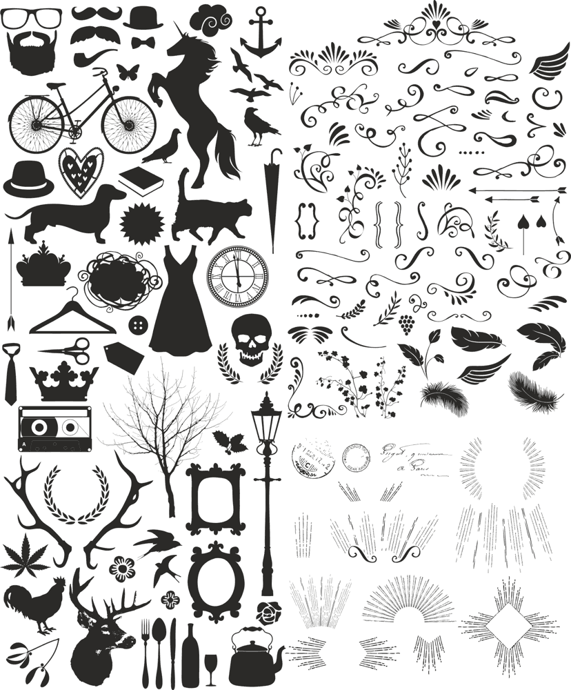Vintage Eccentric Toolkit Vectors CDR File