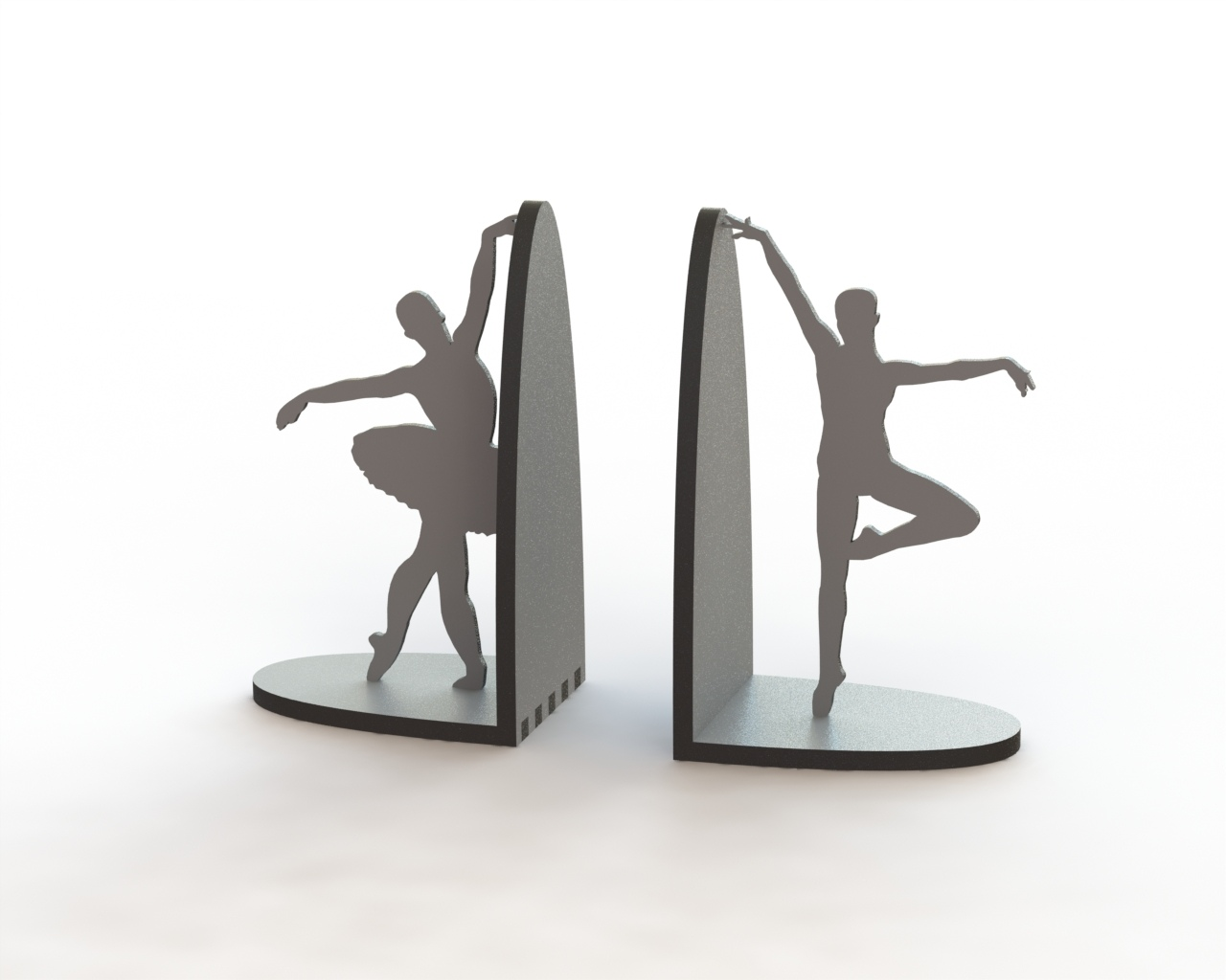 Laser Cut Ballerina Pair Book Supports CDR File