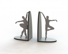 Laser Cut Ballerina Pair Book Supports Free Vector
