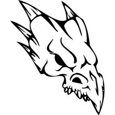 Skull 018 dxf File
