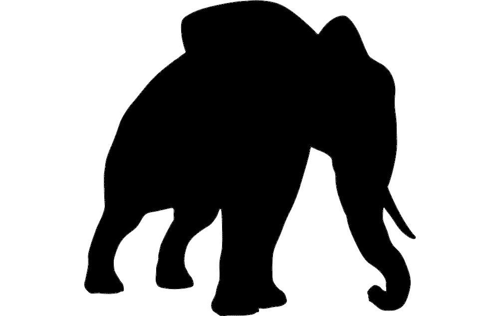 Elephant Silhouette Dxf File Free Download 3axis Co