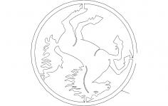 Horse dxf File Laser cnc