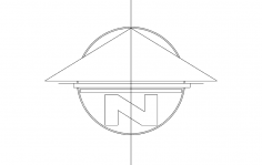 North Arrow Symbol Flat dxf File