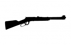 Lever Action Rifle dxf File