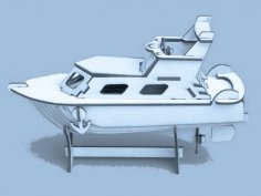 Yacht Laser Cut Puzzle Model Free Vector