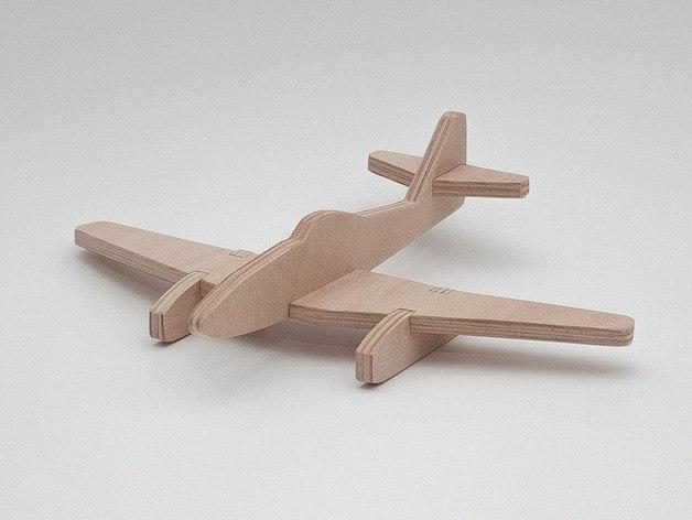 Messerschmitt Me 262 3D Puzzle dxf File