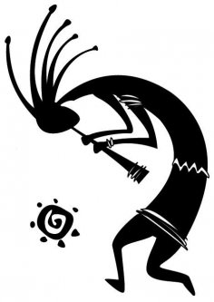 Kokopelli from petroglyphs dxf File