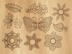 Vintage butterfly Decor Free Vector