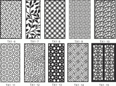 CNC Jali Cutting Pattern Collection Free Vector