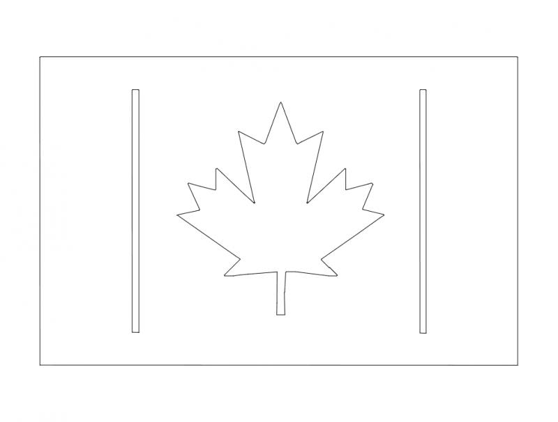 Canada Flag 2 dxf File