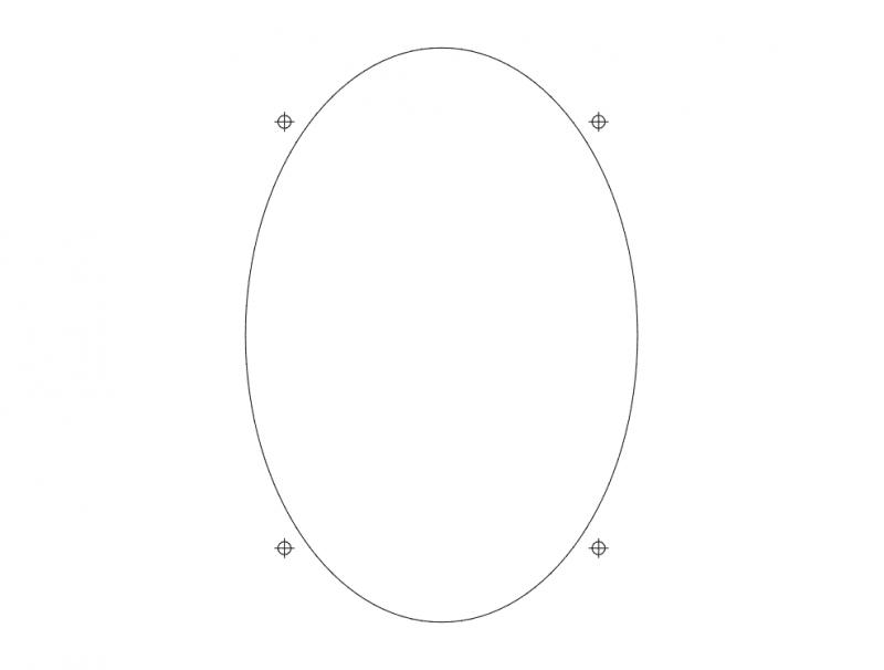 6×9 Speaker dxf File