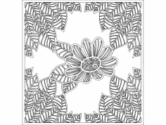 Quadro Flores dxf File