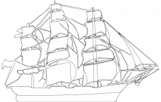 Clipper Ship dxf File