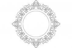 Ayna Mirror Frame Round dxf File