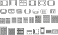 Chinese window patterns Vectors Free Vector