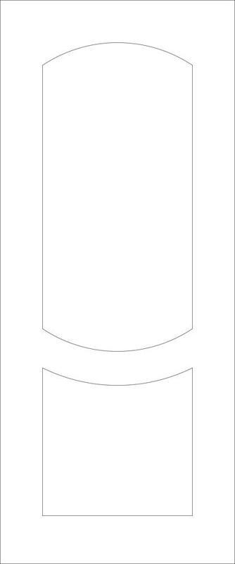2d Door Panel line vector Free Vector