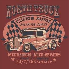 North Truck Design Vector CDR File