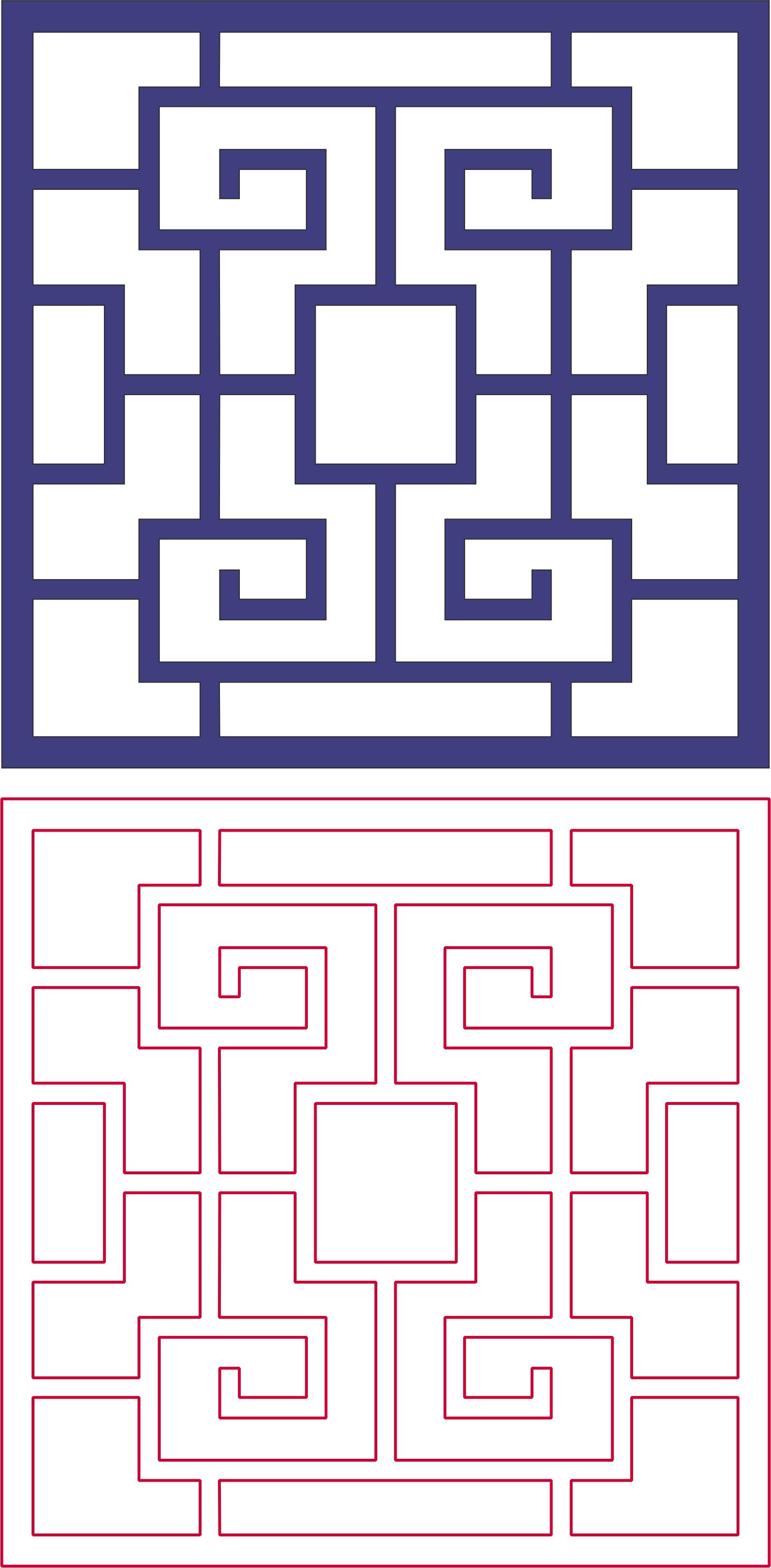 Decorative Lattice Pattern dxf File