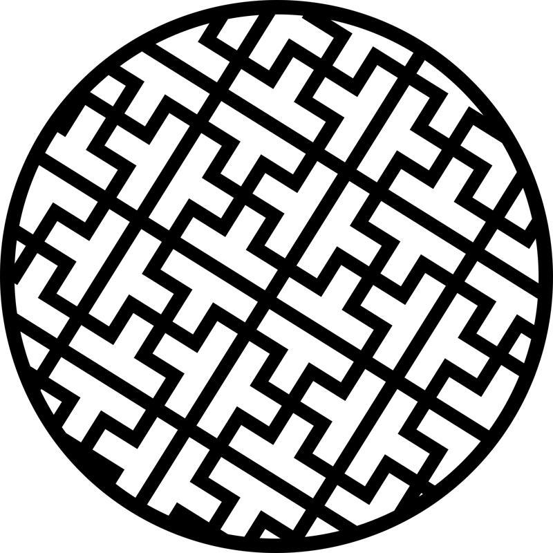 Circular Decorative Pattern Design dxf File