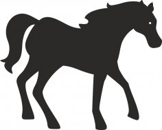 Horse Silhouette dxf File