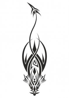 Dragon Tattoo Design Vector Free Vector