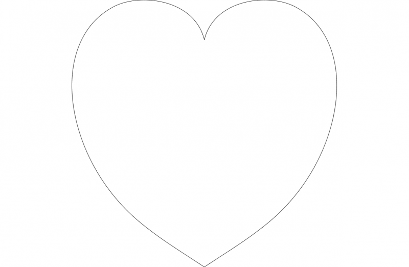 Heart Outline dxf File