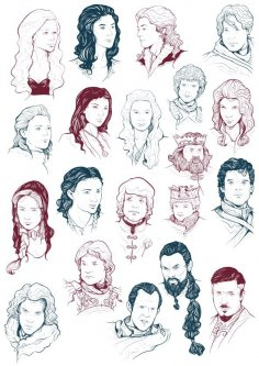 Game of Thrones Cast Free Vector