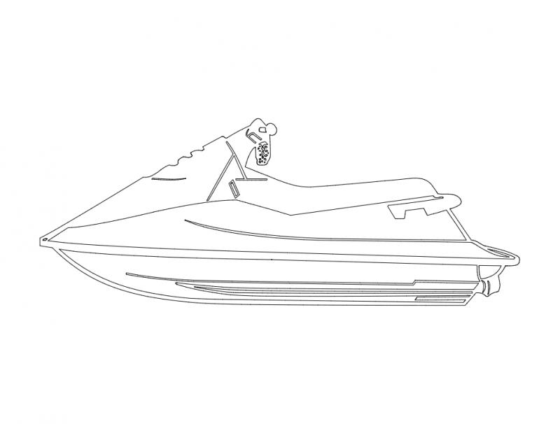 Jet Ski dxf File
