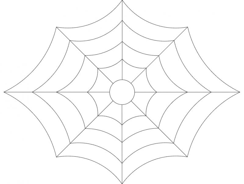 Spider web 2 dxf File
