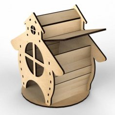 Plywood Tea House Design for Laser Cutting Free Vector