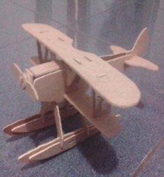 Hydroplane Laser Cut Free Vector