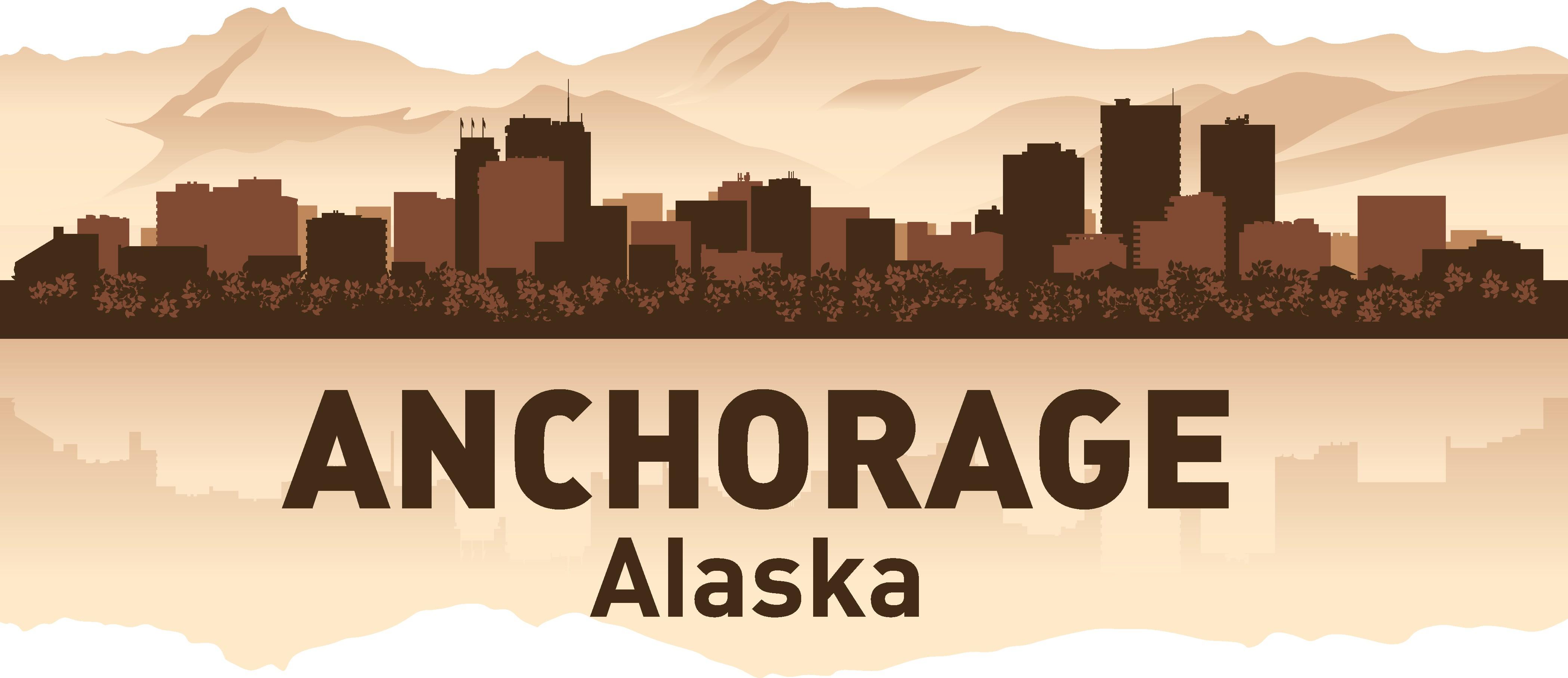 Anchorage Skyline Free Vector