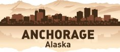 Anchorage Skyline Free Vector
