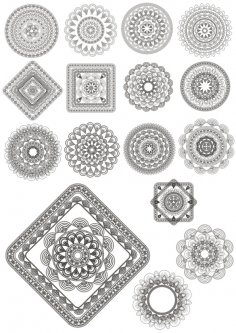 Mandala Ornaments Free Vector