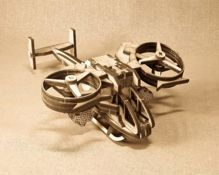 Avatar Scorpion Helicopter Laser Cut Free Vector