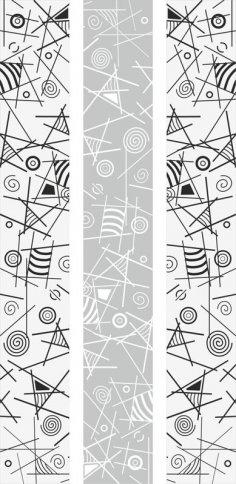 Geometric Line Art Sandblast Pattern Free Vector