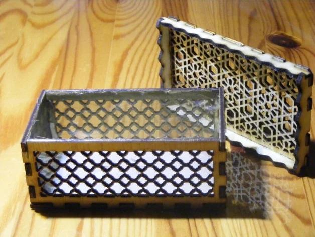 Laser Cut Arabic Design Box Free Vector