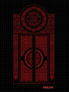 باب تفريغ شريف قرني DXF File