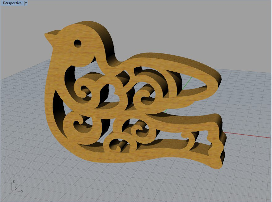 Laser Cut Bird DXF File