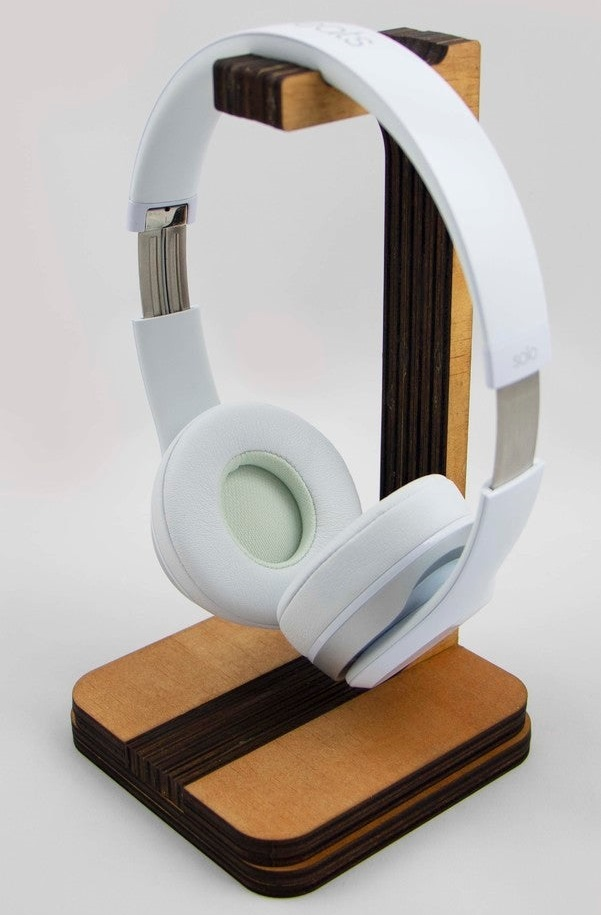 Laser Cut Headphone Stand DXF File