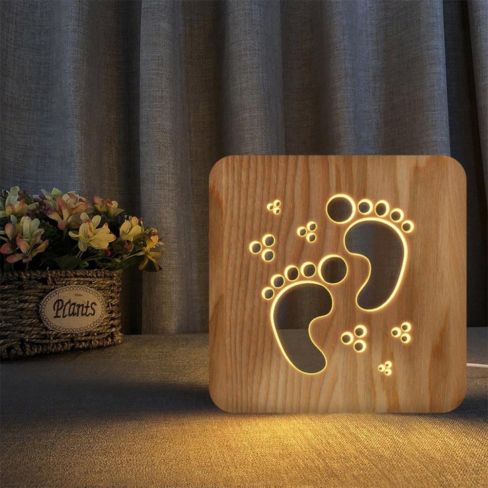 Laser Cut Wooden Lamp Decor Kids Bedroom Decorate Light DXF File