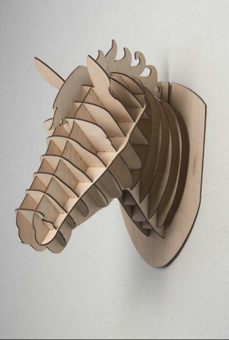 Laser Cut Horse Head Wall Decor Free Vector