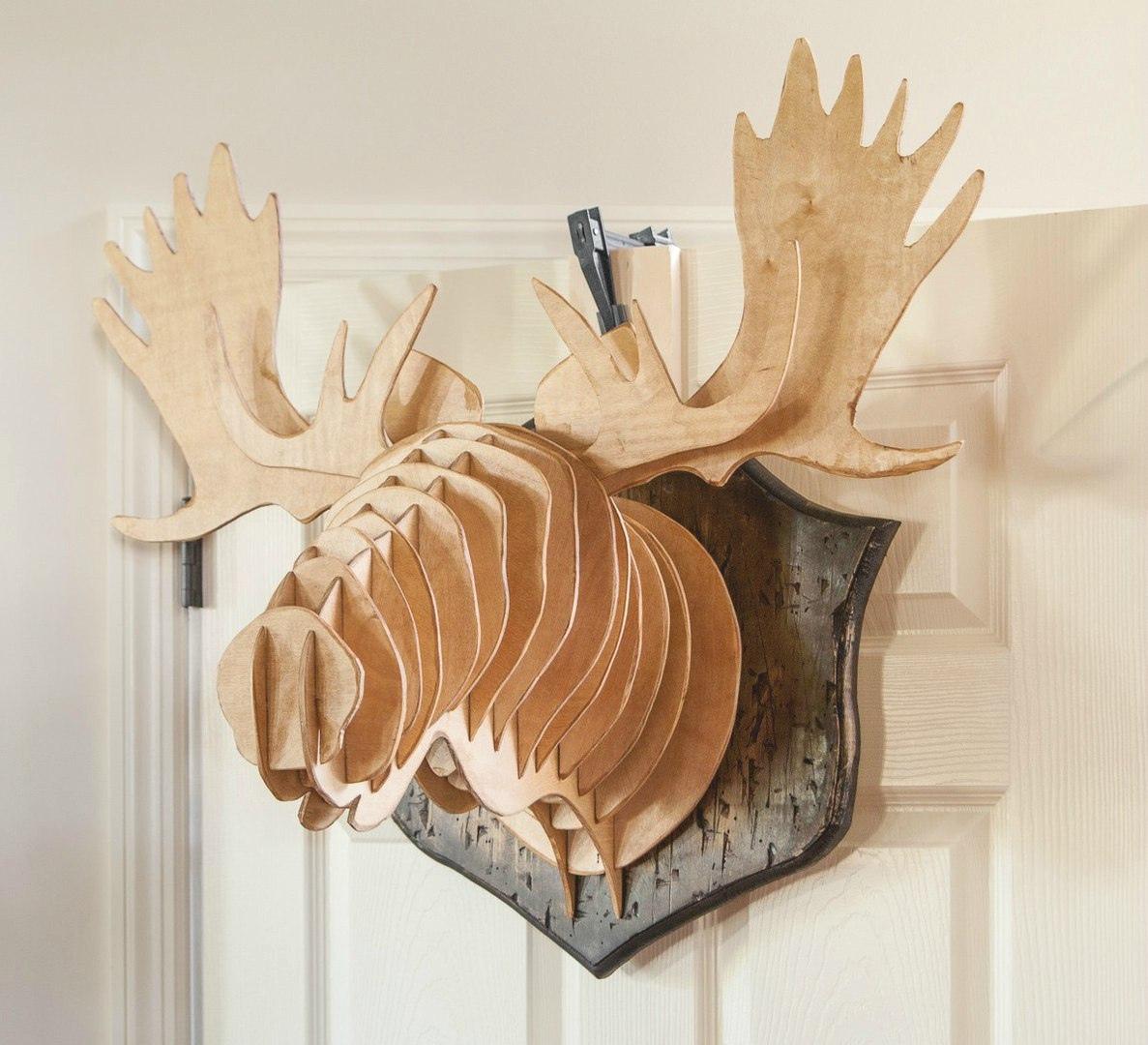 Laser Cut Elk Wall Head Decor Deer Head On Wall Free Vector