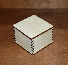 Laser Cut Blank Jewelry Box Blank Unfinished Wooden Box Free Vector