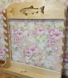 Laser Cut Fishing Rod Stand Horizontal Fishing Rod Storage Rack Free Vector