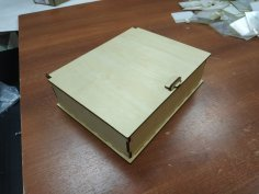Laser Cut Wooden Box With Lid 4mm Free Vector