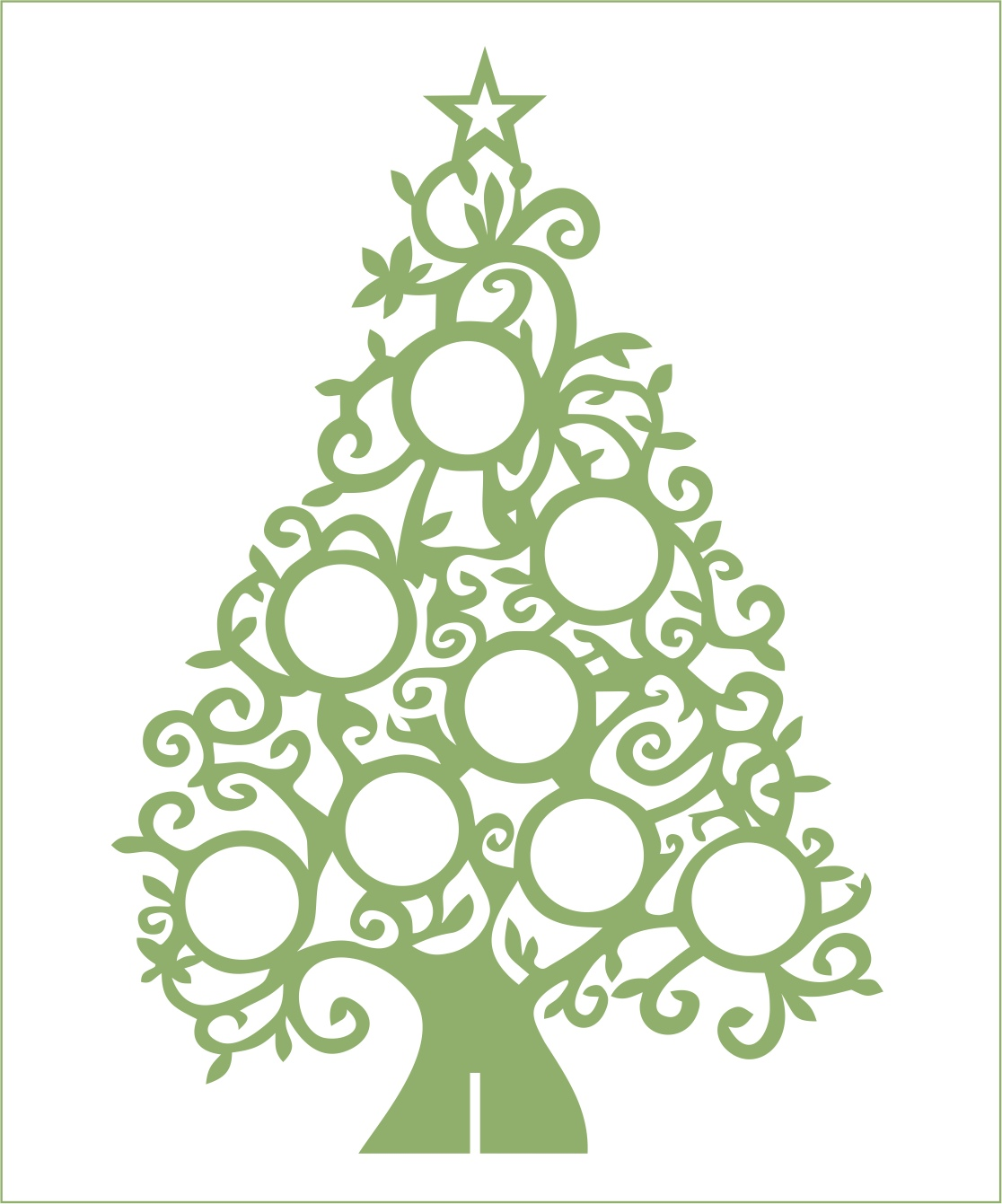 Laser Cut Christmas Crafts Free Vector