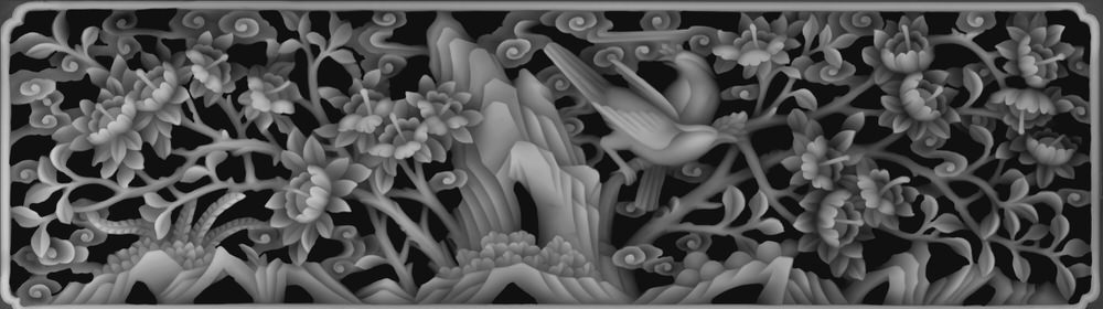 3d (depth map) grayscale image File