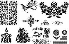 Seamless Swirl Patterns EPS File
