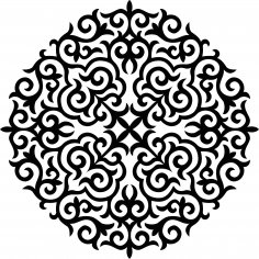 Ornament Stencil Free Vector